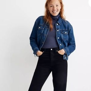 Madewell Boxy Jean Jacket Quilted Lining SzXS